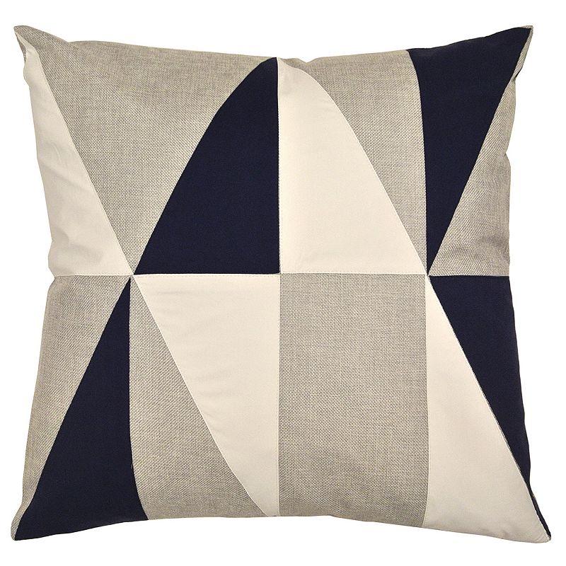 Kohls White Throw Pillows : Compass Colorblock Throw Pillow