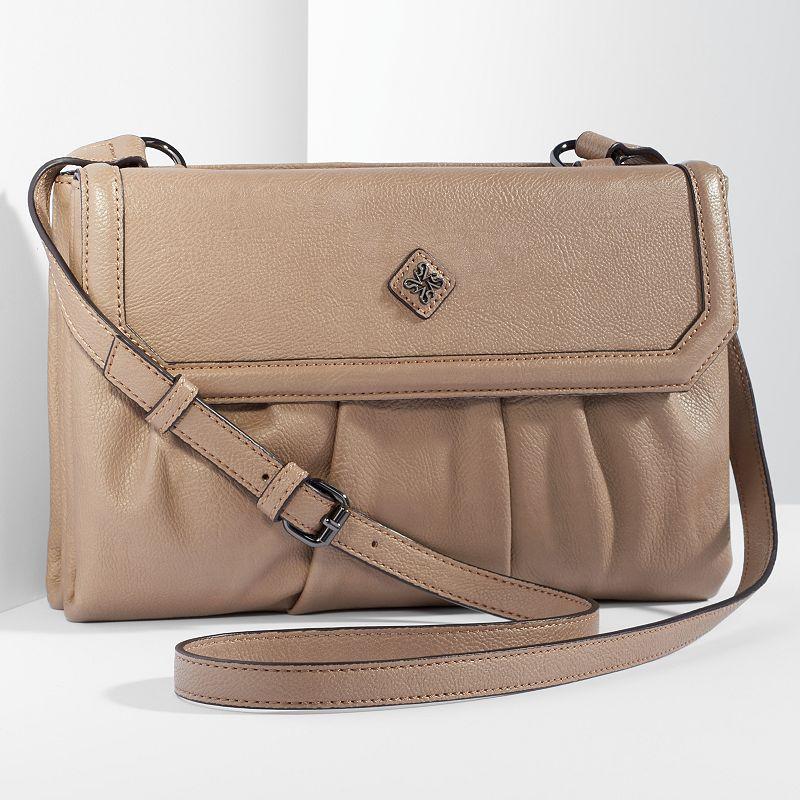 Simply Vera Vera Wang Cherry Hill Pleated Crossbody Bag