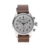 Akribos XXIV Men's Element Leather Chronograph Watch