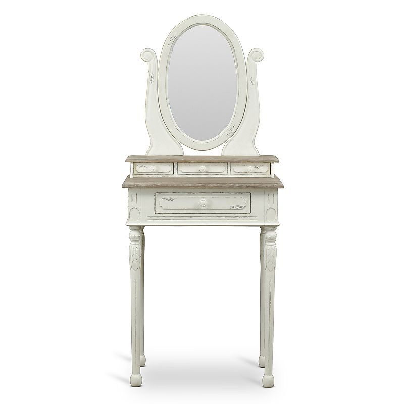 Baxton Studios Anjou Traditional French Dressing Table