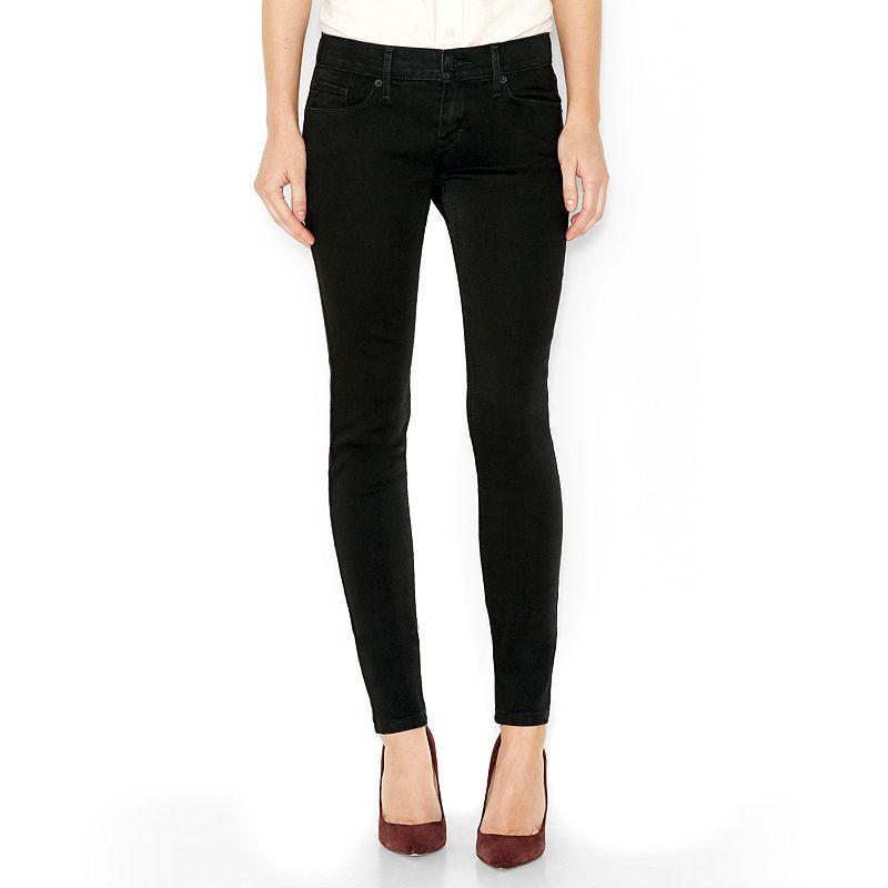 Levi's 524 Skinny Jeans - Juniors, Size: 0 AVE/REG (Black)