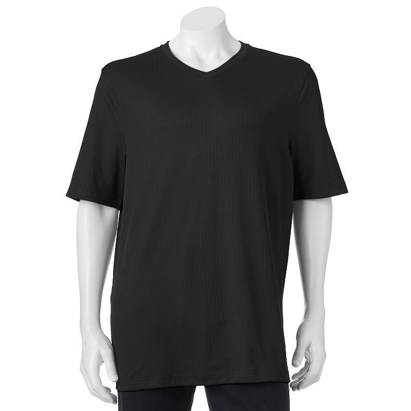 Men's Croft & Barrow® Ribbed Classic-Fit Easy-Care V-neck Tee