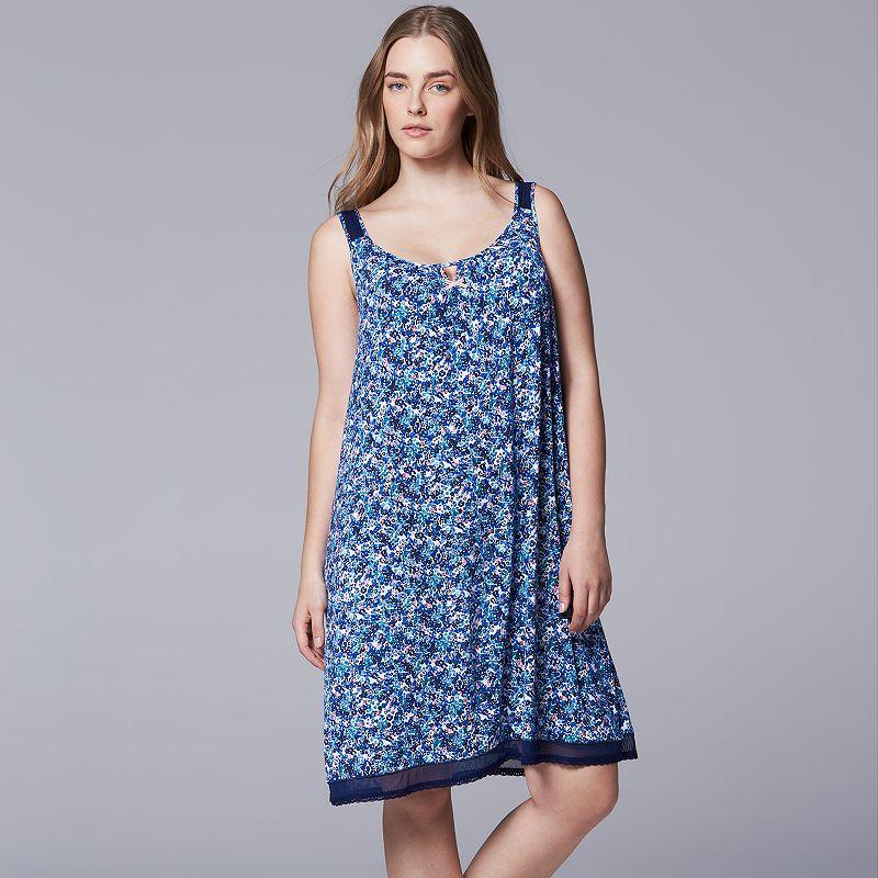 Plus Size Simply Vera Vera Wang Pajamas: Away We Go Chemise