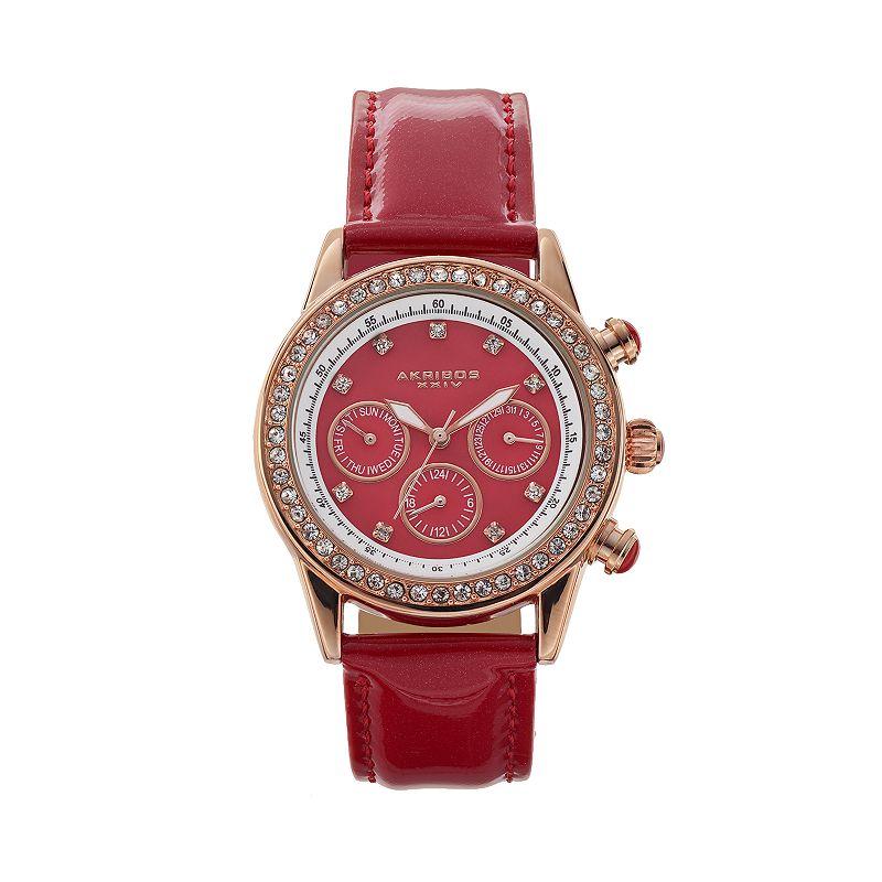 Akribos XXIV Women's Lux Crystal Chronograph Watch
