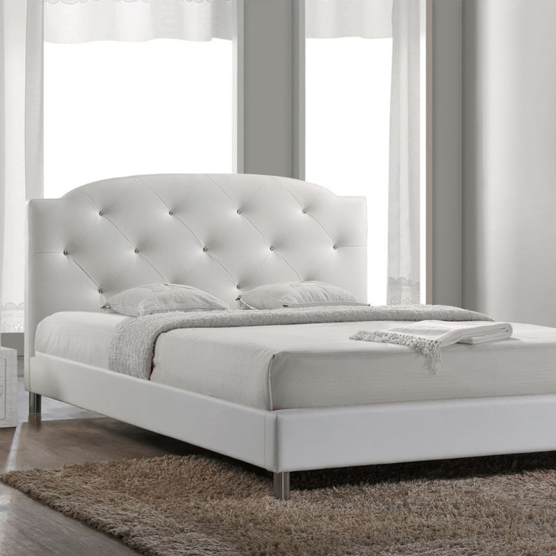 Contemporary White Emily Sleigh Bed Id  Dealtrend
