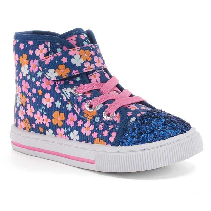 Jumping Beans® Girls' Floral High-Top Sneakers