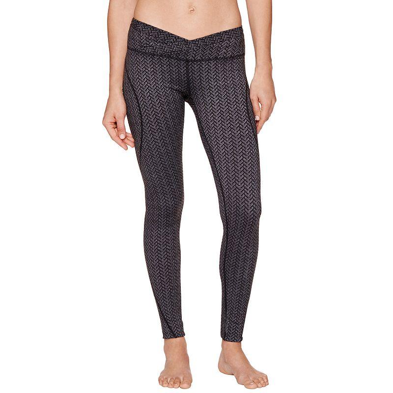 Women's Shape Active Herringbone Jacquard Workout Leggings