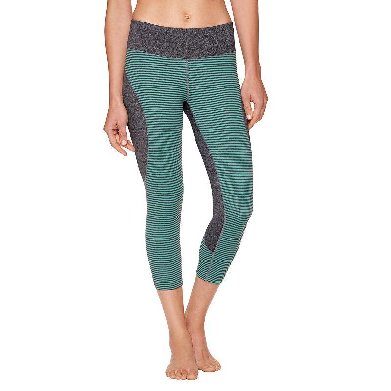 Women's Shape Active Striped Colorblock Capri Workout Leggings