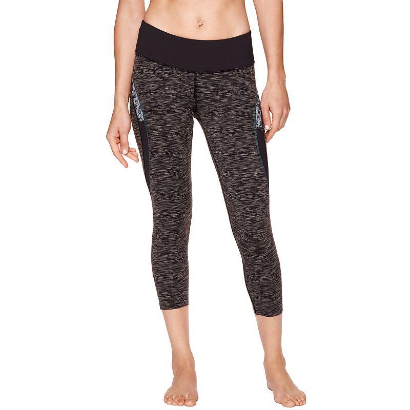 Women's Shape Active Space-Dye Capri Workout Leggings