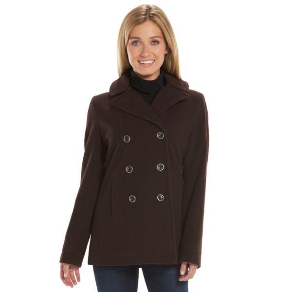 Women's Braetan Hooded Double-Breasted Wool-Blend Peacoat