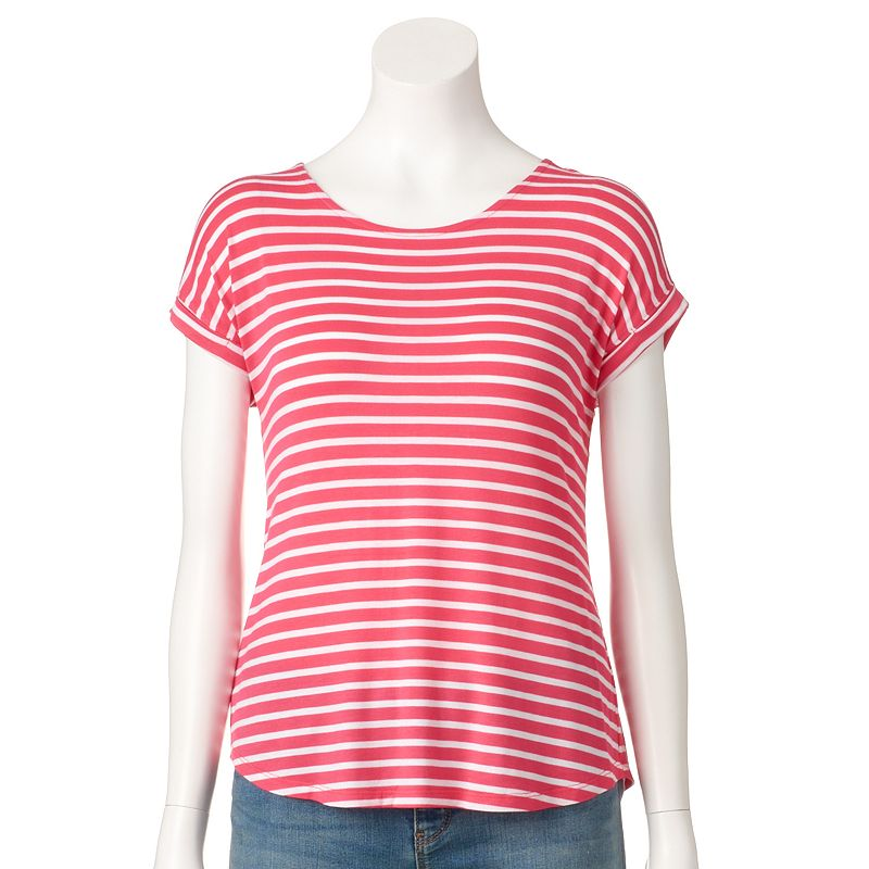 Petite Apt. 9® Striped Split-Back Tee