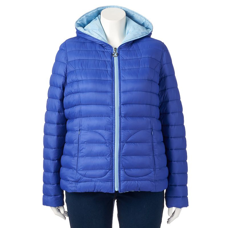 Plus Size Halifax Hooded Reversible Packable Puffer Jacket