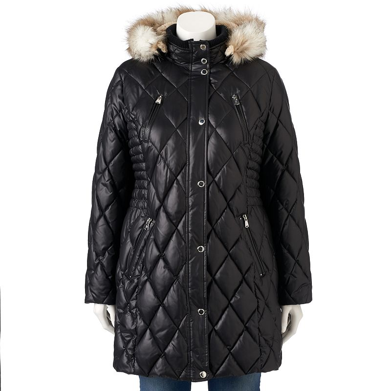 Plus Size Halifax Hooded Quilted Puffer Jacket