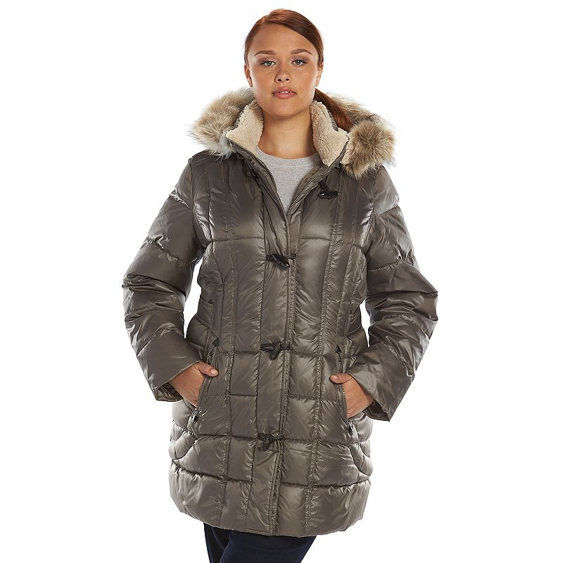 Plus Size Halifax Hooded Toggle Puffer Jacket