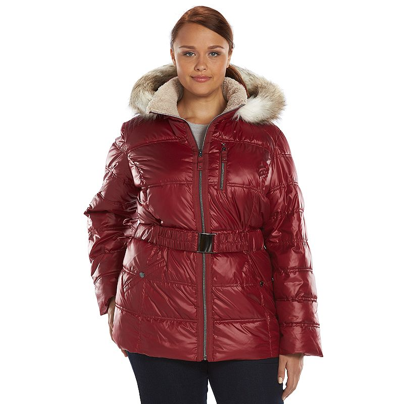 Plus Size Halifax Faux-Fur Hooded Puffer Jacket