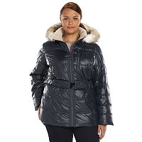Plus Size Halifax Faux-Fur Hooded Puffer Jacket