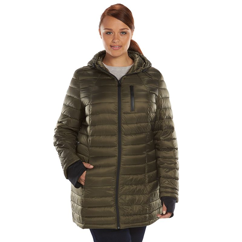 Plus Size Generation NXT Hooded Packable Down Puffer Jacket