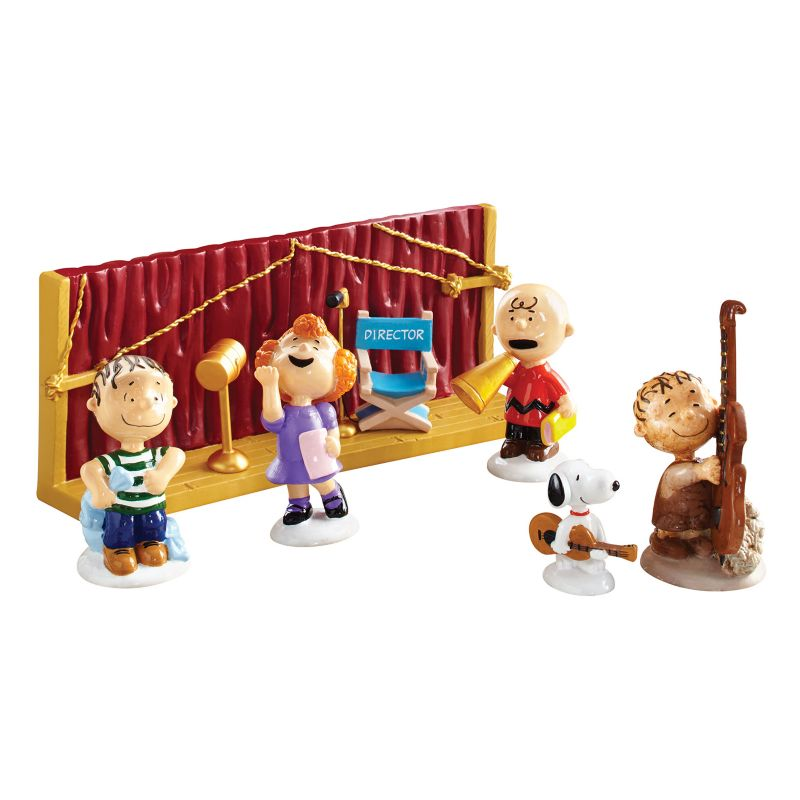 Peanuts Christmas Getting Ready For Xmas Village Decor by Department 56 (Brown)