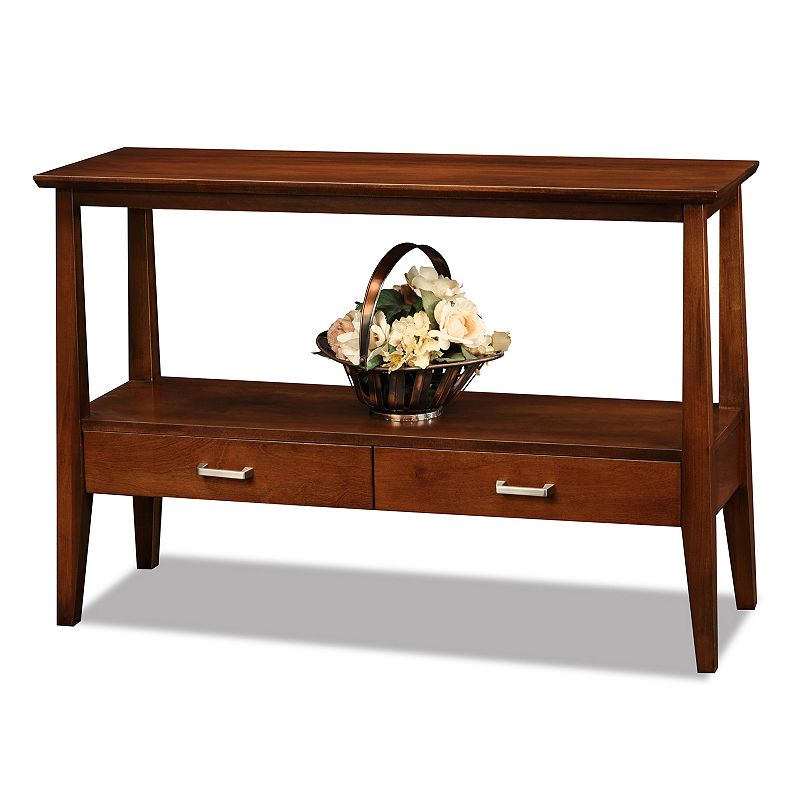 Leick Furniture Sienna Finish 2-Drawer Sofa Table