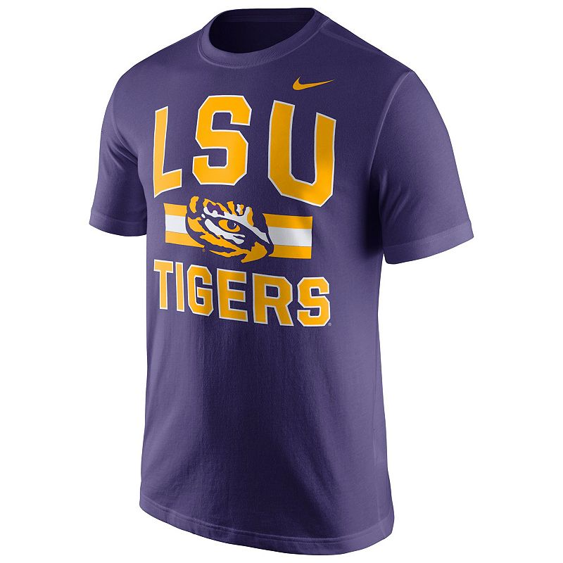 Men's Nike LSU Tigers Stadium First Stripe Tee