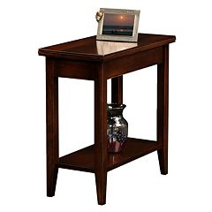 Leick Furniture Chocolate Cherry Finish Narrow End Table by