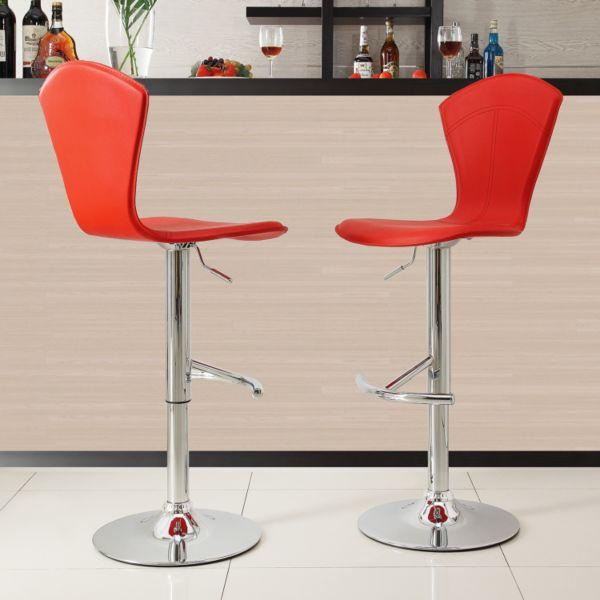 HomeVance 2-piece Elliot Adjustable Swivel Barstool Set