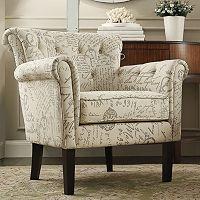 HomeVance Tufted Club Arm Chair