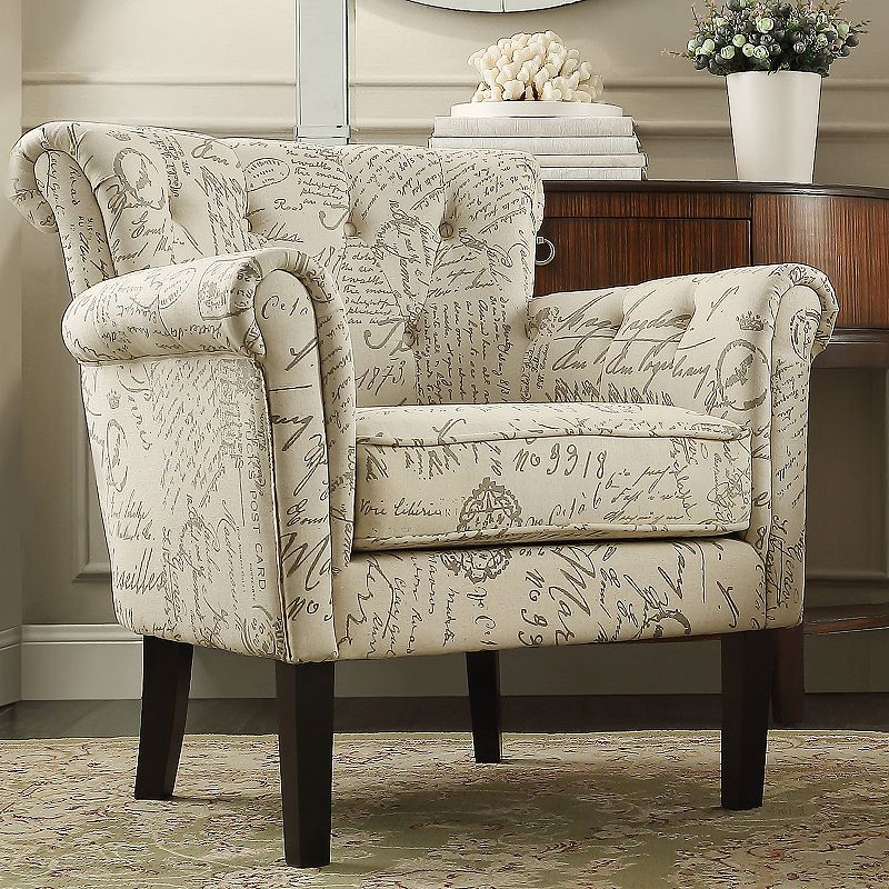HomeVance Tufted Club Arm Chair