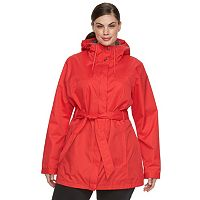Plus Size Columbia Spring Run Hooded Trench Jacket