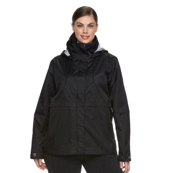 Plus Size Columbia Spring Run Hooded Short Trench Jacket