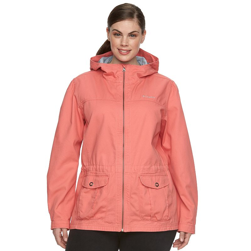 Plus Size Columbia Wichita Ridge Hooded Twill Anorak Jacket