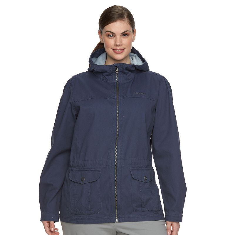 Plus Size Columbia Wichita Ridge Hooded Twill Anorak Jacket