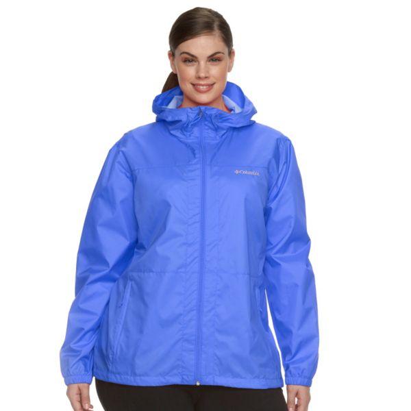 Plus Size Columbia Rain Dancer Hooded Jacket