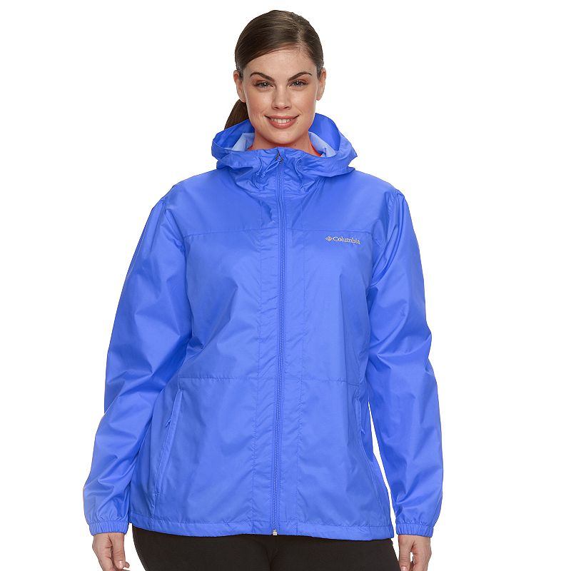 Plus Size Columbia Rain Dancer Hooded Jacket