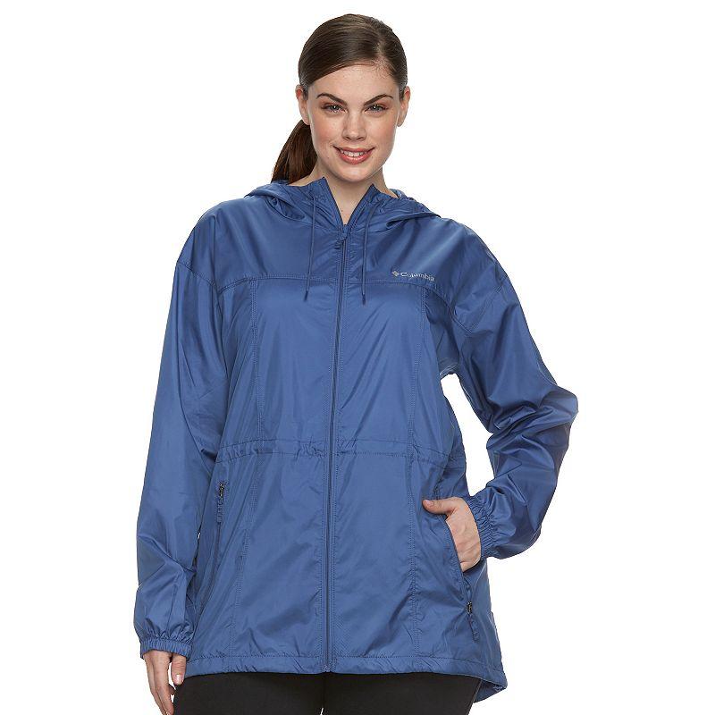 Plus Size Columbia Rockwell Falls Long Windbreaker Jacket