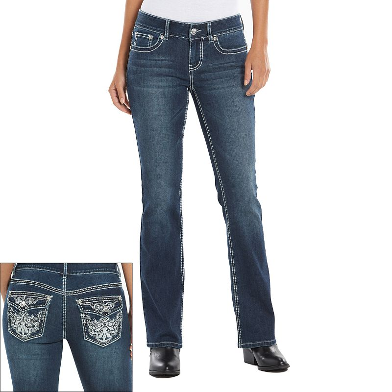 Women's Apt. 9® Embroidered Bootcut Jeans