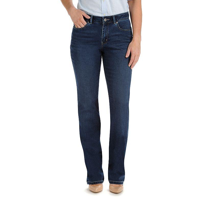 Lee Modern Fit Curvy Straight-Leg Jeans - Women's, Size: 6 SHORT, Blue