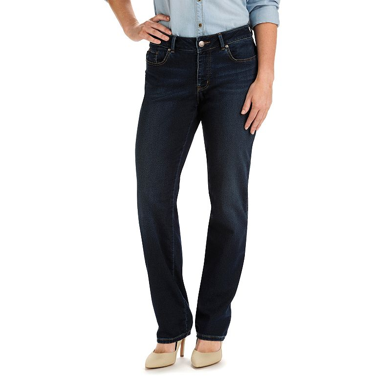 Lee Modern Fit Curvy Straight-Leg Jeans - Women's, Size: 12 SHORT, Blue