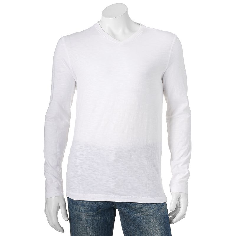 Men's Marc Anthony Slim-Fit Slubbed V-Neck Tee