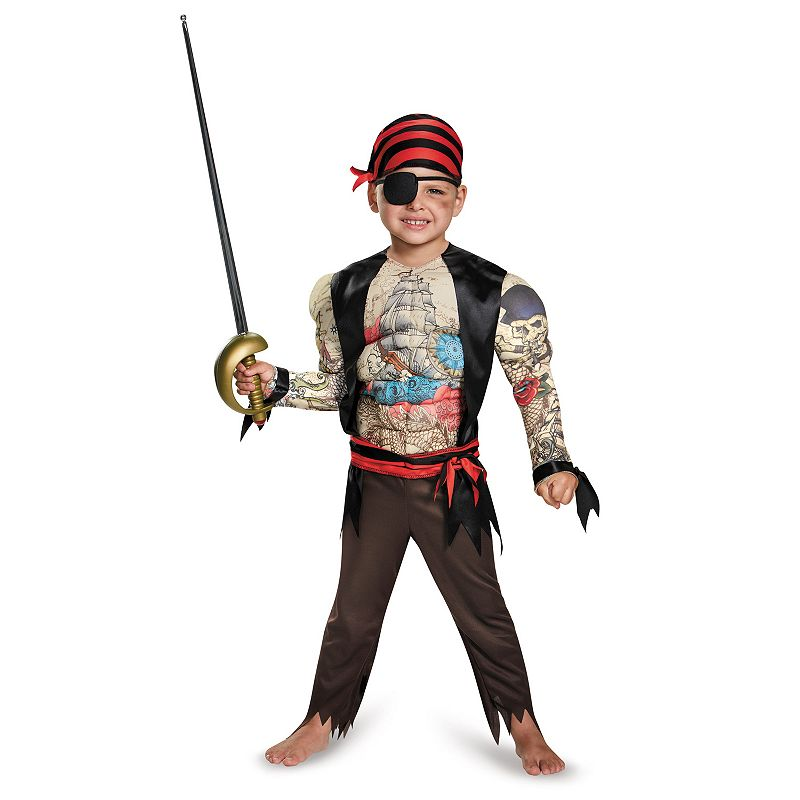 Pirate Muscle Costume - Toddler