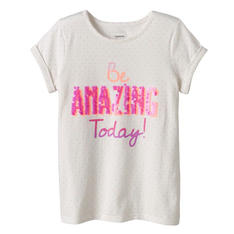 Girls 4-10 SONOMA Goods for Life™ Sequin Tee