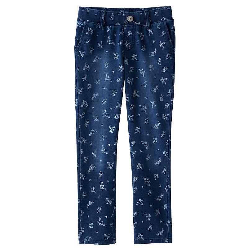 Girls 4-10 SONOMA Goods for Life™ Navy Floral Knit Jeggings