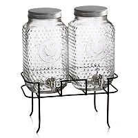 Style Setter Rooster 2-pc. Glass Beverage Dispenser Set with Stand