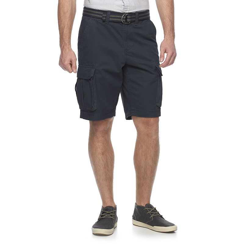 Big & Tall SONOMA Goods for Life™ Twill Belted Cargo Shorts