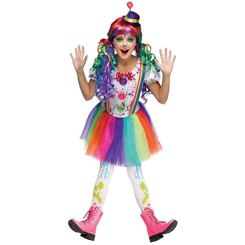 Rainbow Clown Costume - Kids