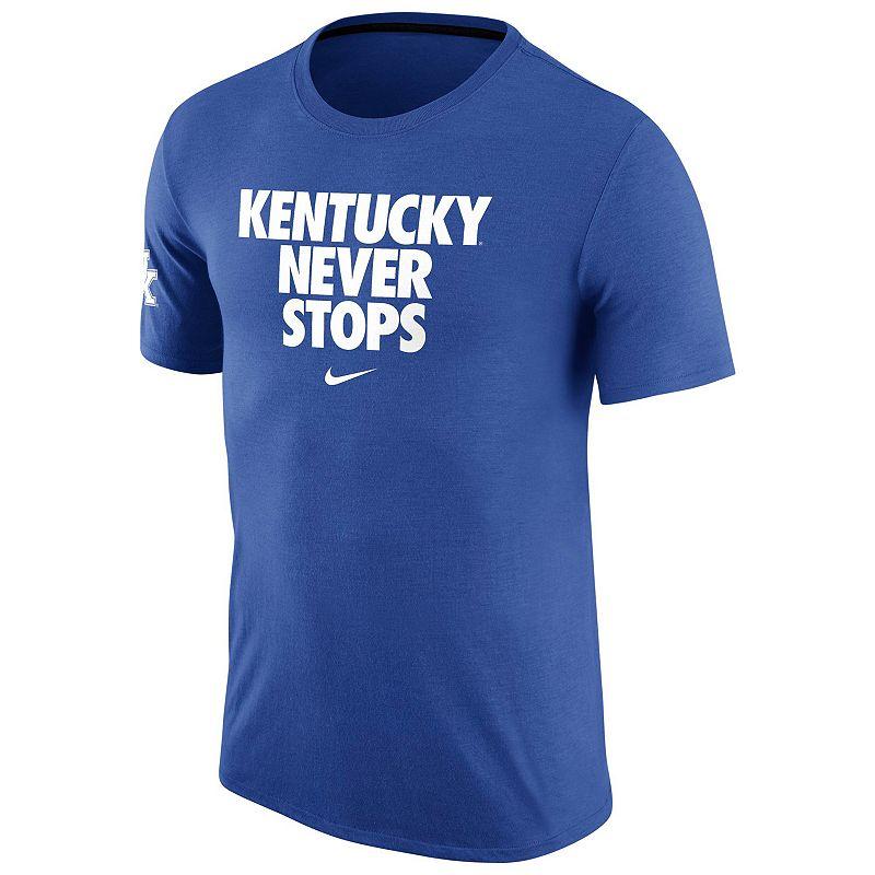 Men's Nike Kentucky Wildcats Basketball Never Stops Tee