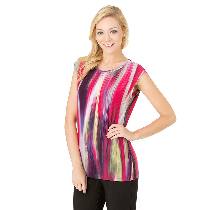 Women's Haggar® Print Scoopneck Top