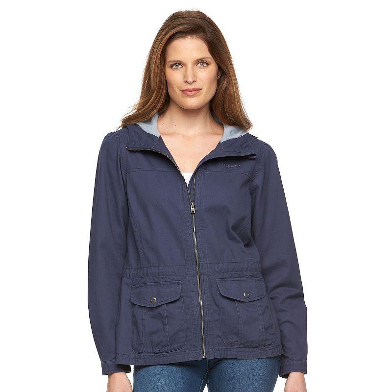Women's Columbia Hooded Twill Anorak Jacket