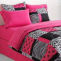 Veratex Skull & Animal Patchwork Reversible Comforter Set