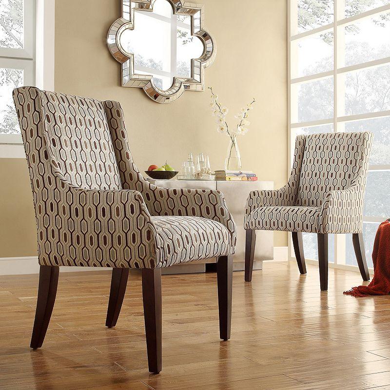HomeVance Beverly Hexagonal Arm Chair